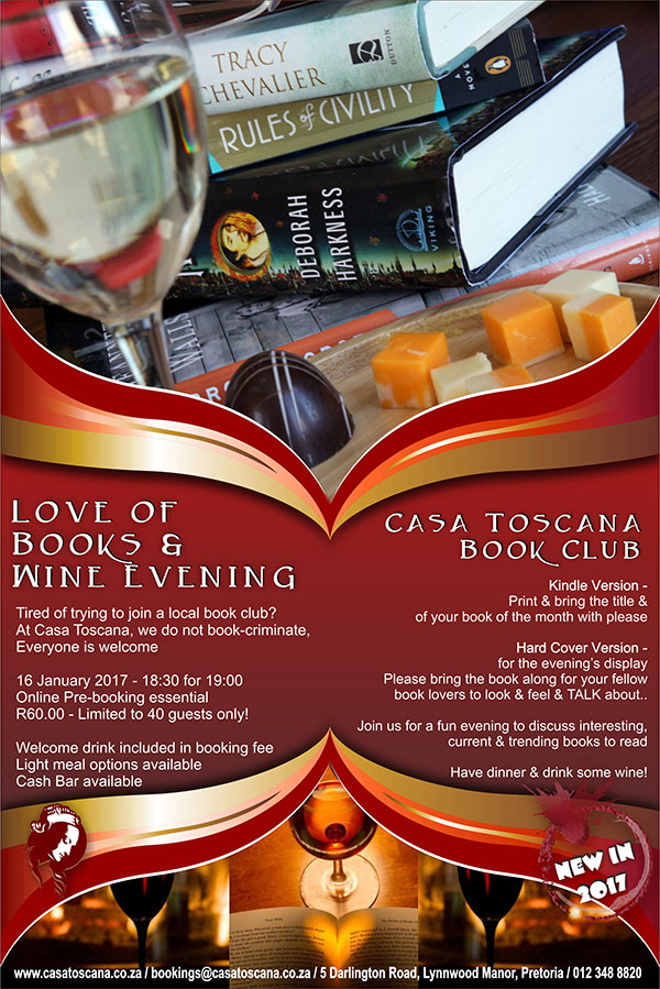 Love of Books and Wine Evening