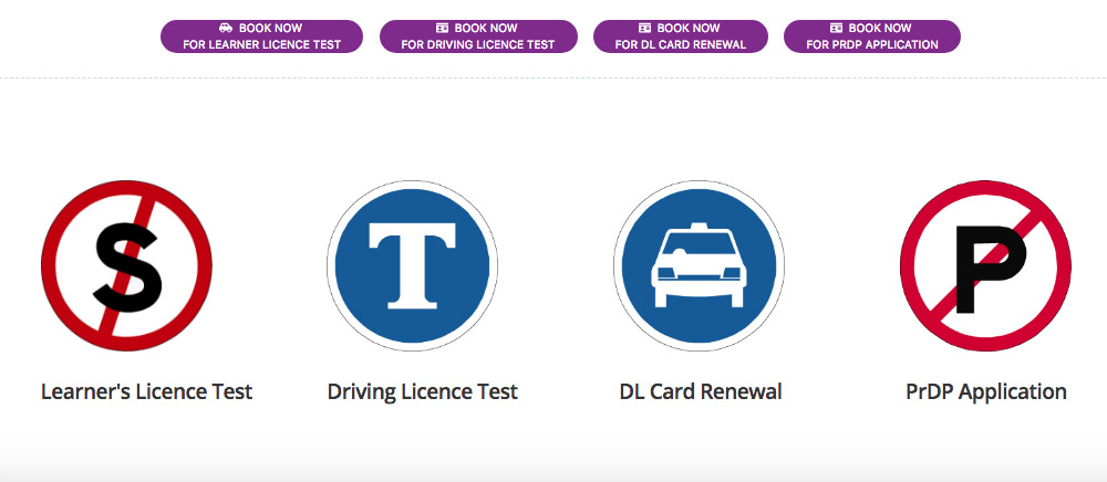 Online Licence Booking System